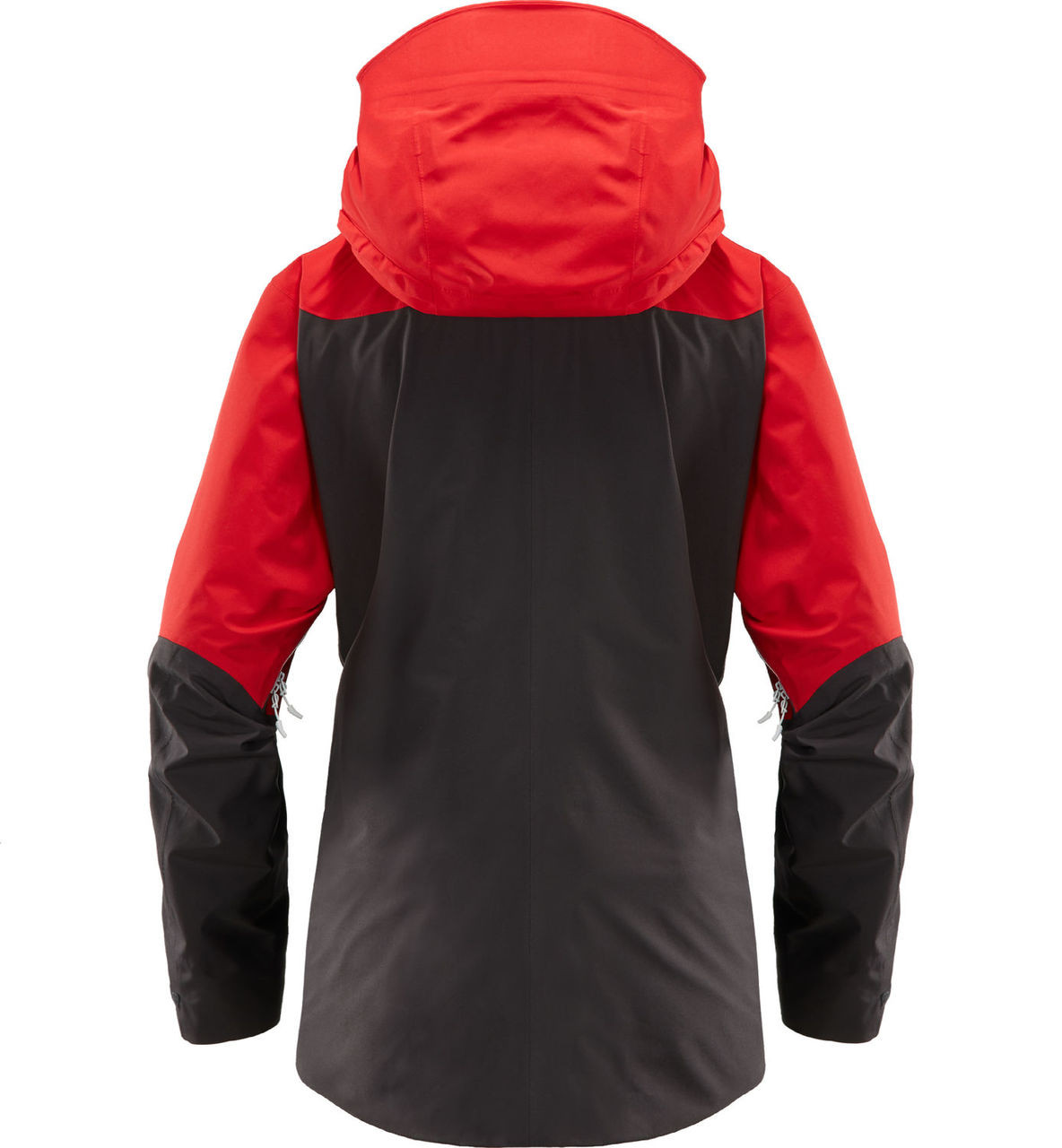 haglofs khione jacket womens ski jacket in slate rich red back view