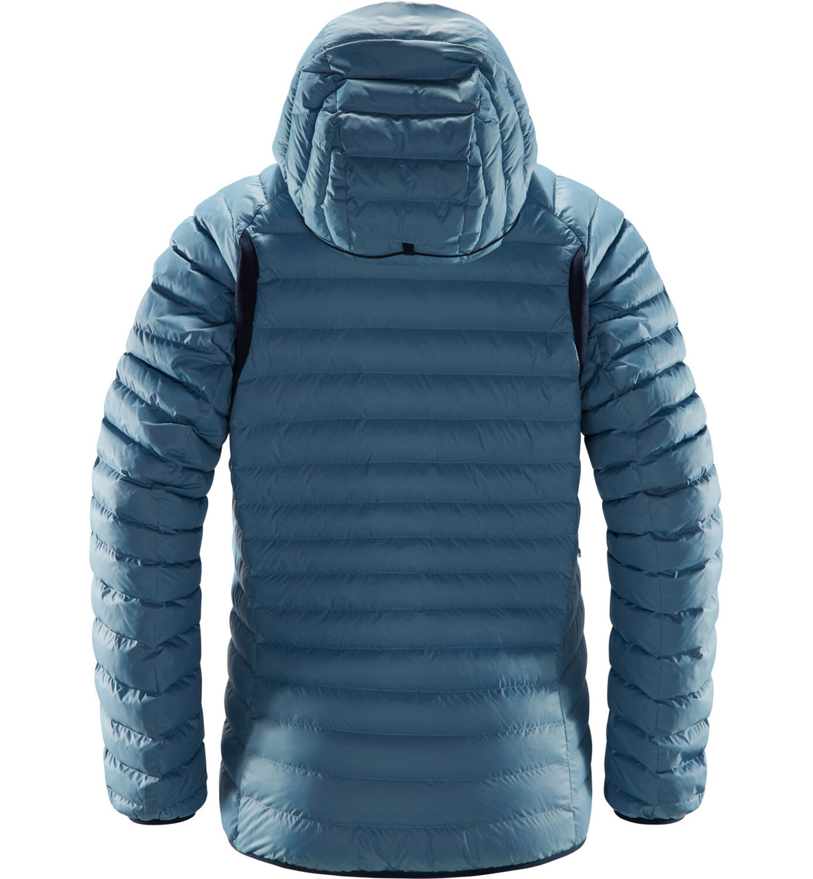 haglofs essens mimic hood women silver blue / dense blue | warm women's jacket
