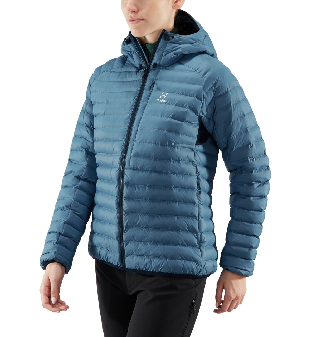 haglofs essens mimic hood women silver blue / dense blue | women's winter jacket