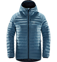 haglofs essens mimic hood women silver blue / dense blue | insulated jacket