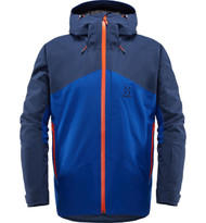 haglofs niva insulated jacket men's ski jacket in tarn blue cobalt blue