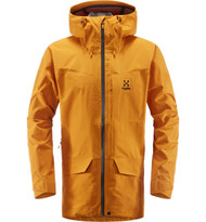 Haglofs Grym Evo Jacket Men Desert Yellow | men's waterproof jacket front