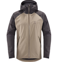 Haglofs Esker Jacket Dune/Slate | men's waterproof jacket front