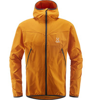 Haglofs Natrix Hood Men Desert Yellow | men's soft shell jacket front