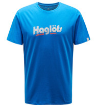 haglofs camp tee men storm blue | men's t-shirt