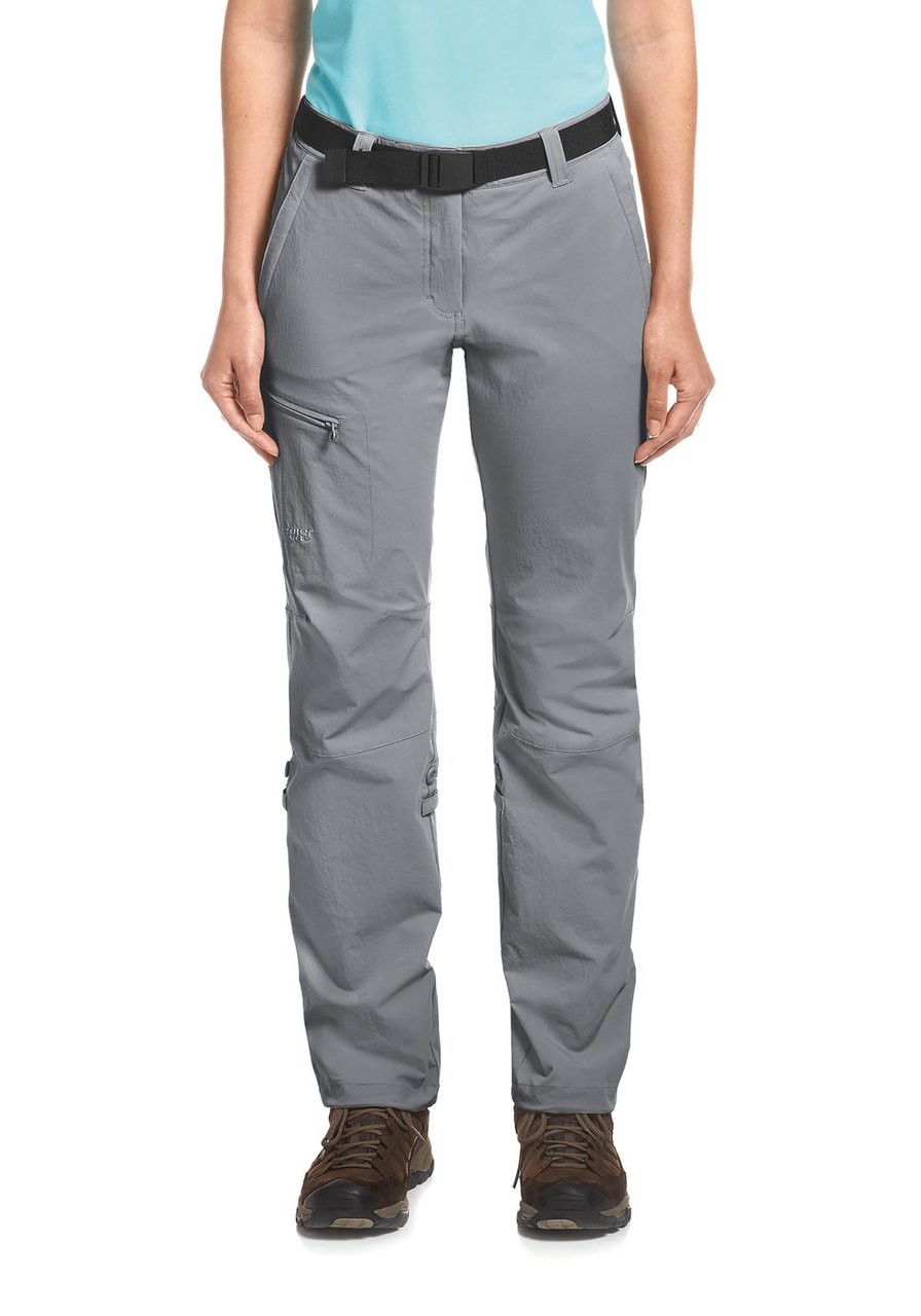maier sports lulaka pants | sleet | front model