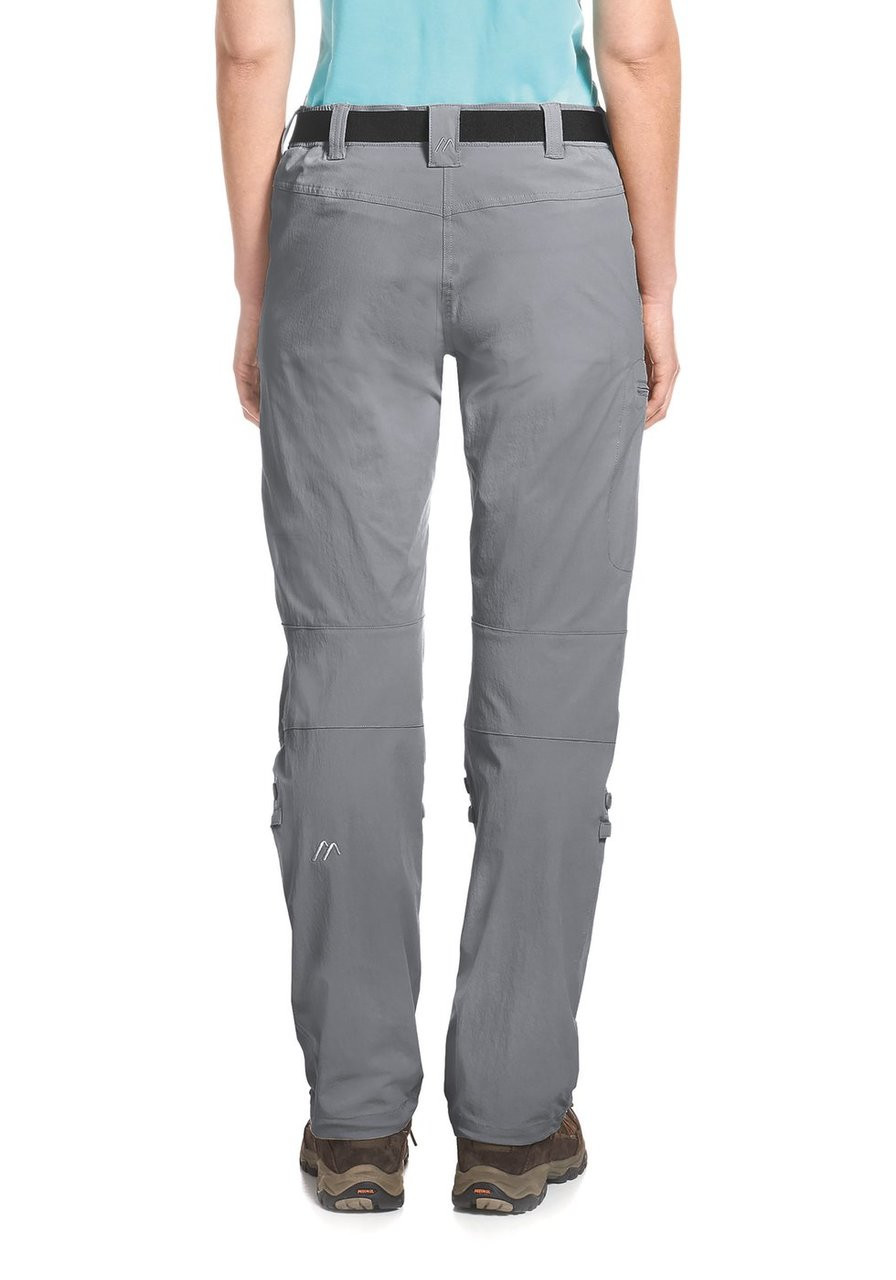 maier sports lulaka pants | sleet | back model