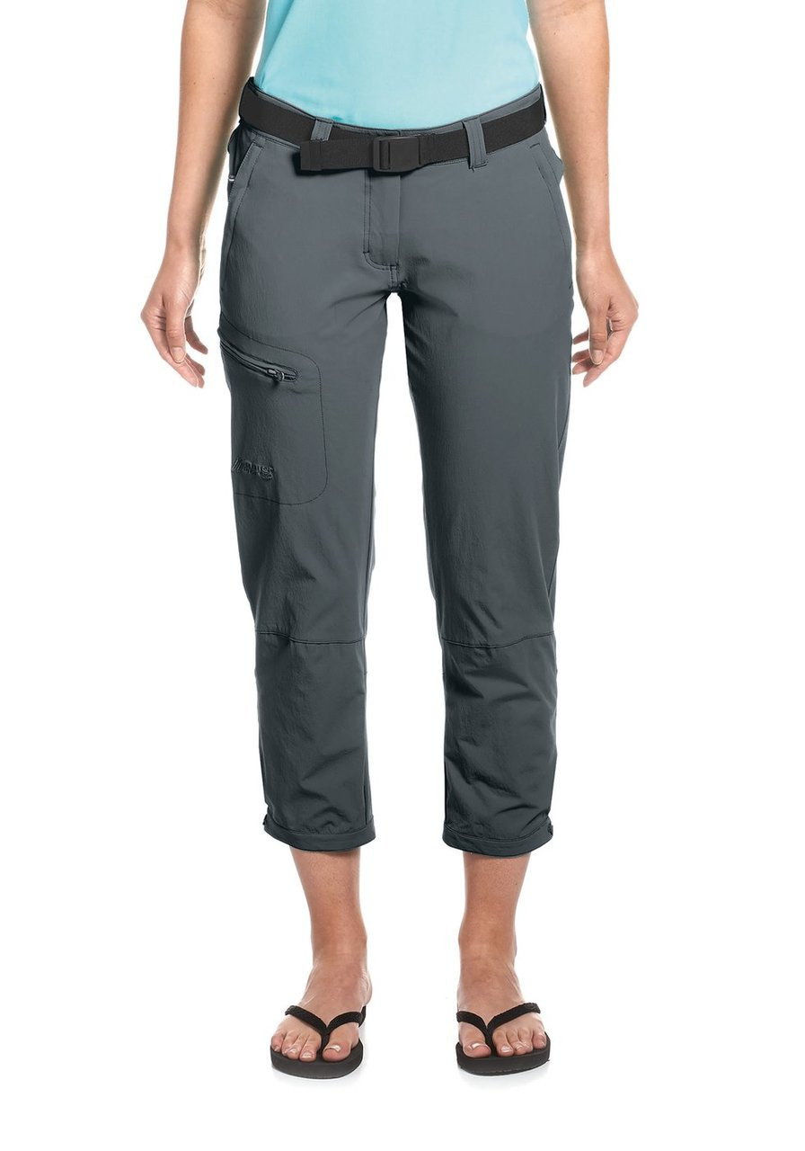 maier sports lulaka 7/8 | graphite | women's short pants front model