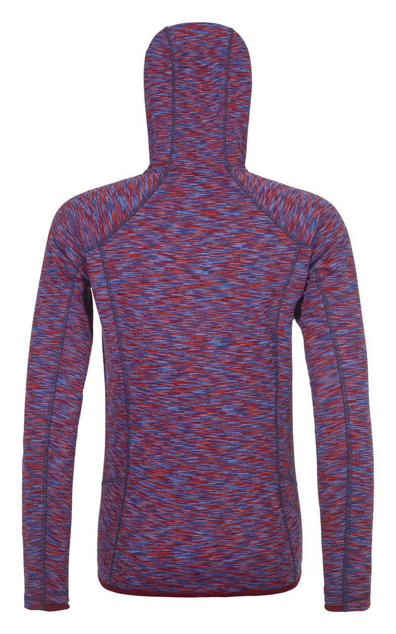 ortovox fleece space dyed hoody women | dark blood blend | back
