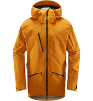haglofs nengal 3l proof parka men desert yellow ski jacket