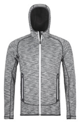 ortovox fleece space dyed hoody grey blend | men's fleece
