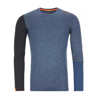 Ortovox 185 Rock'N'Wool Long Sleeve M Night Blue Blend