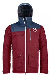 Ortovox 2L Swisswool Andermatt Jacket M Dark Blood