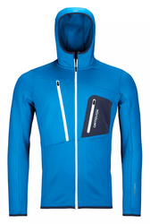 Ortovox Fleece Grid Hoody M Safety Blue