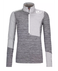 ortovox fleece light zip neck | grey blend