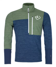 ortovox fleece light zip neck | night blue blend