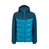 mammut rime pro IN hooded jacket men | sapphire - wing teal