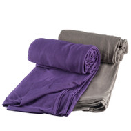 Soft and moisture-wicking Coolmax makes a great travel blanket.