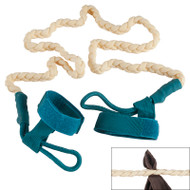 Latex rubber travel clothesline can be attached to almost anything. Pull apart braided lines to hold garments.