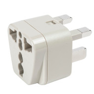 Front hole pattern accepts any North American 2-prong or 3-prong plugs.
