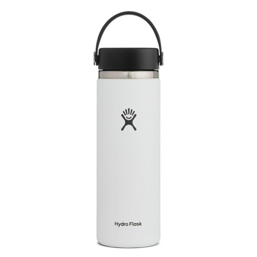 20 oz wide mouth hydro flask in white