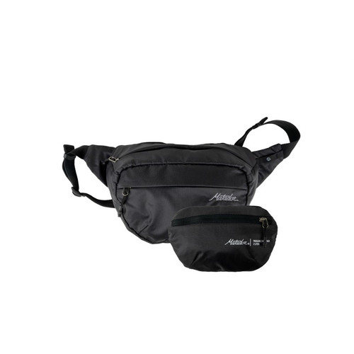 Ultralight hip pack in charcoal