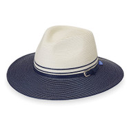 Kristy hat in ivory/navy