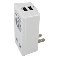 North American Adapter Plug with 2 USB ports