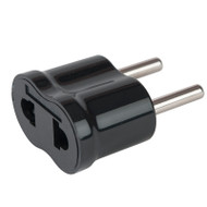 Continental Europe adapter features 2 round pins.