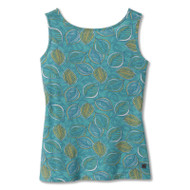 front view Essential Tencel twist tank in turquoise