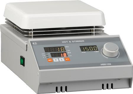 Digital Temperature Control Hotplate with Magnetic Stirrer, Max 380°C, 180x180mm Plate