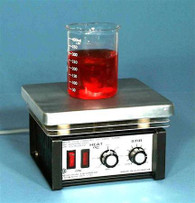 Lab Hotplate with Magnetic Stirrer, Simmerstat 450°C Control, 200x180mm PTFE Coated Plate