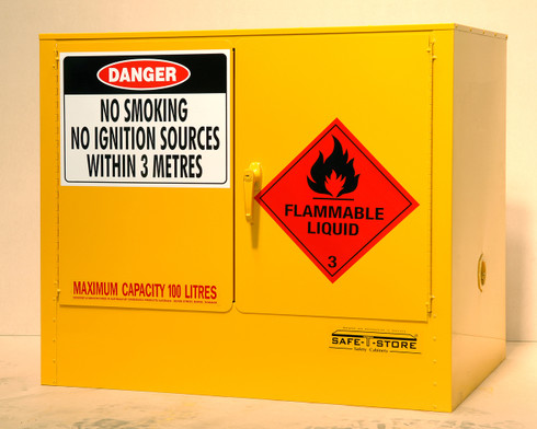 Flammable Liquid Storage Cabinet, Steel, 100 Litres