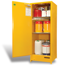 Flammable Liquid Storage Cabinet, Vertical Space Saver, 250 Litres