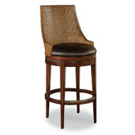 Woven Leather Bar Stool - Deguise Interiors Charleston SC