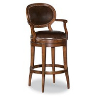 Oval Back Swivel Bar Stool - Deguise Interiors Charleston SC