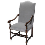 Conti Silver Grey Mohair Arm Chair  - Deguise Interiors Charleston SC