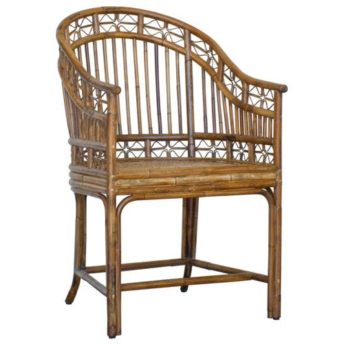 Indochine Horseshoe Armchair - Deguise Interiors Charleston SC