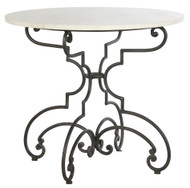 The French Iron and Marble Table - Deguise Interiors Charleston SC