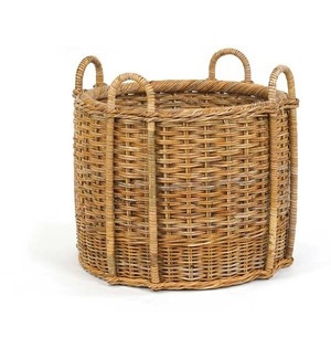 French Country Fireplace Basket - Deguise Interiors Charleston SC