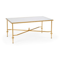 French Cocktail Table - Gold