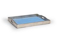 Large Blue Shagreen Tray