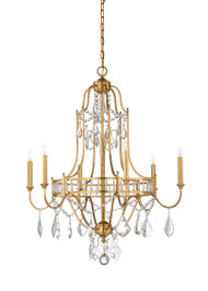 Gold Buckhead Chandelier - Small