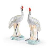 Ceramic Cranes - Deguise Interiors Charleston SC