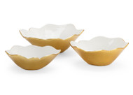 White Enameled Bowls (Set of 3)