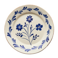 Casa Nuno Flowers and Vines Plate Set - Blue