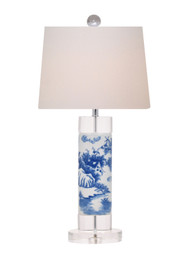 European Blue and White Lamp