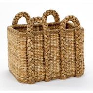 Large Rectangular Rush Basket - Deguise Interiors Charleston SC