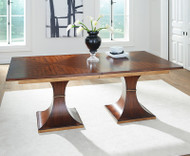2 Pillar Dining Table - Deguise Interiors Charleston SC