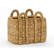Rectangular Rush Basket - Deguise Interiors Charleston SC